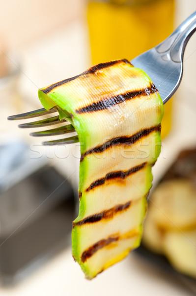 Gegrild courgette courgette vork macro Stockfoto © keko64