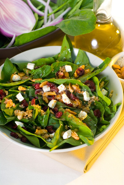spinach salad Stock photo © keko64
