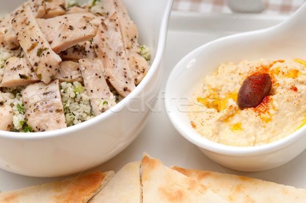 Pollo cuscús frescos tradicional árabes alimentos Foto stock © keko64