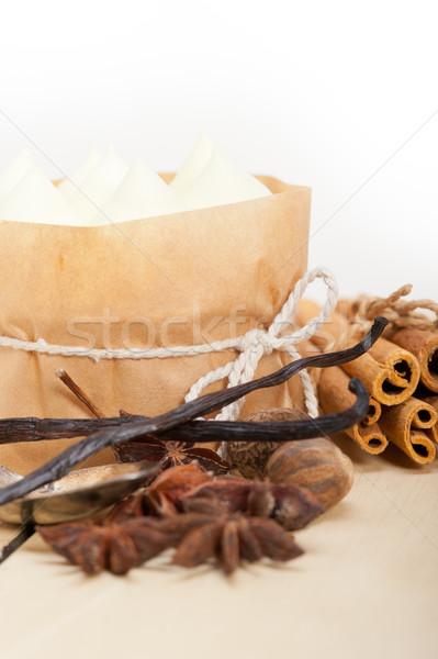 ваниль Spice кремом торт десерта свежие Сток-фото © keko64