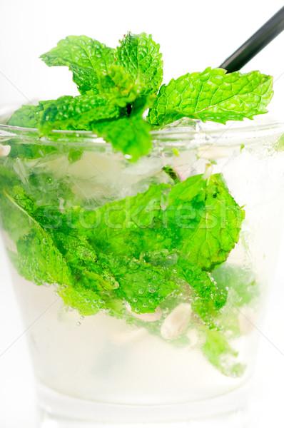 Mojito cocktail fresche menta foglie calce Foto d'archivio © keko64