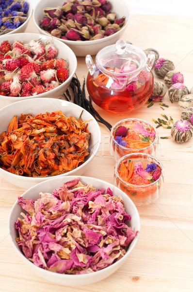 Foto stock: Naturalismo · floral · chá · infusão · secar