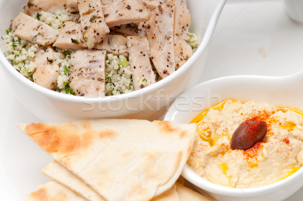 taboulii couscous with hummus Stock photo © keko64