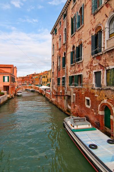 Venetië Italië ongebruikelijk plaats Stockfoto © keko64