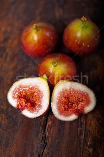 fresh figs over old wood Stock photo © keko64