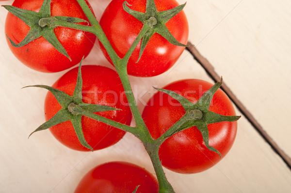 新鮮な チェリートマト クラスタ 素朴な 食品 ストックフォト © keko64