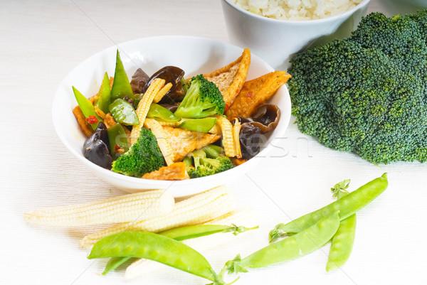 Тофу овощей свежие здорового типичный Сток-фото © keko64