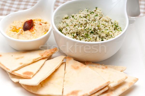 Couscous fresche tradizionale arab alimentare bianco Foto d'archivio © keko64