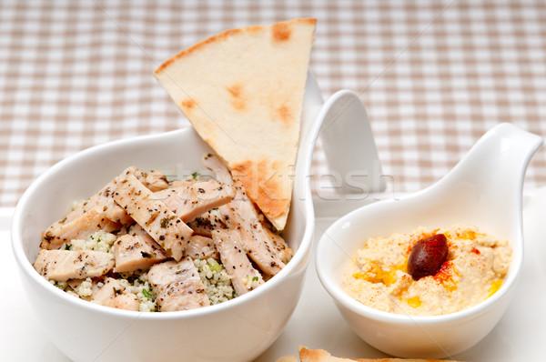 Kip couscous vers traditioneel arab voedsel Stockfoto © keko64