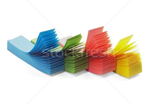 Memo adesivo colore isolato bianco Foto d'archivio © keko64