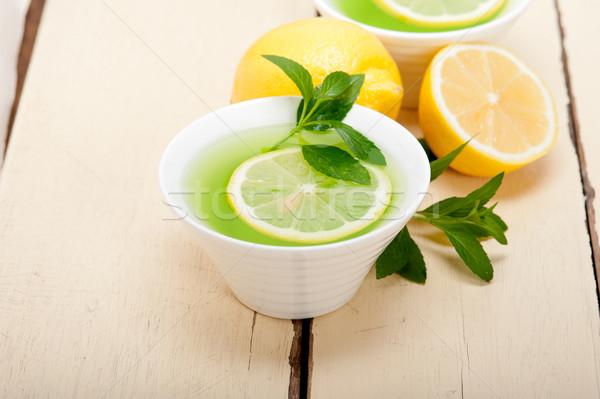 De infusão chá limão fresco saudável Foto stock © keko64