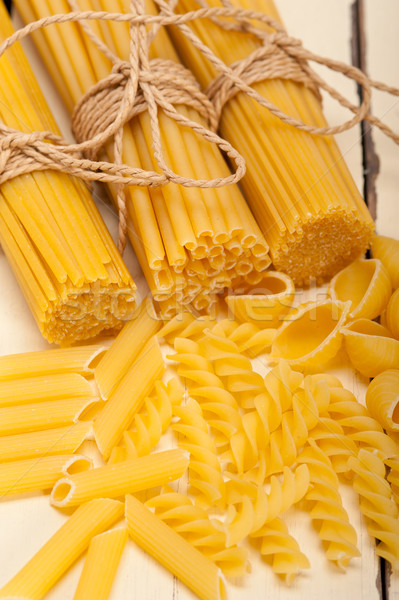 Köteg olasz tészta fehér rusztikus Stock fotó © keko64