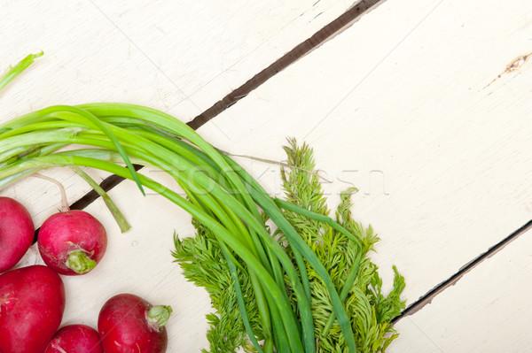 Foto stock: Raiz · vegetal · rústico · branco · mesa · de · madeira