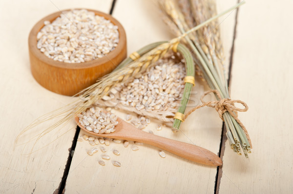 organic barley grains Stock photo © keko64