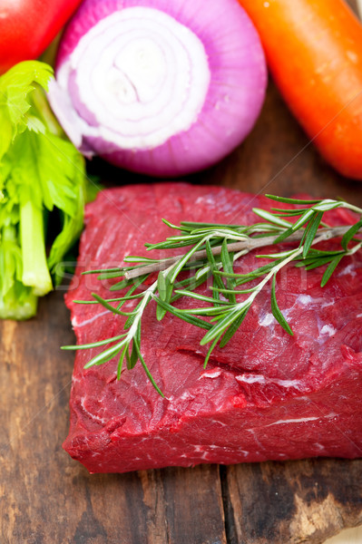 Taze sığır eti kesmek hazır pişirmek Stok fotoğraf © keko64