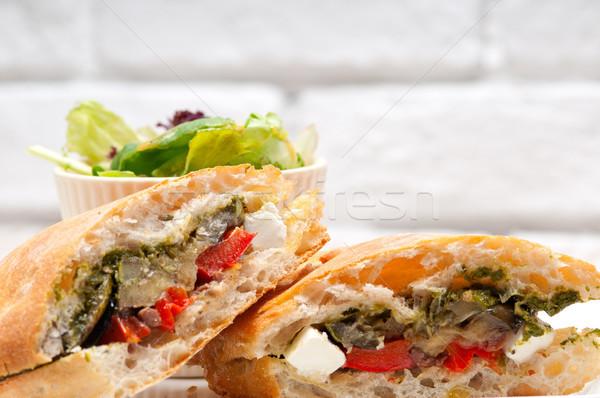 Панини растительное фета итальянский продовольствие Сток-фото © keko64