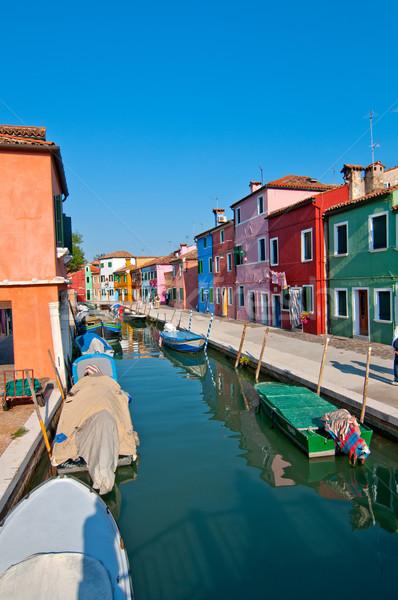 Italia Venecia isla tradicional colorido casas Foto stock © keko64