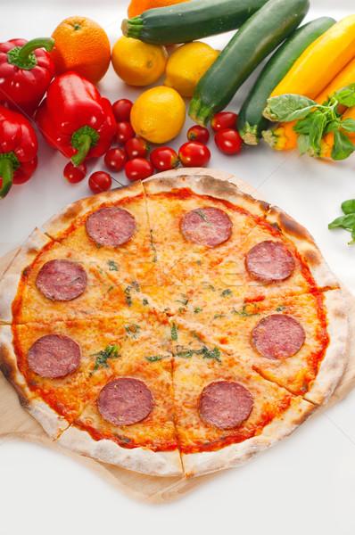 Italian original thin crust  pepperoni pizza Stock photo © keko64