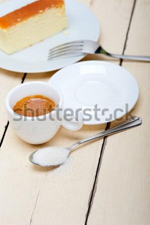 Stock photo: Italian espresso coffee and sugar cubes