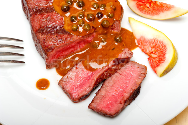 green peppercorn beef filet mignon Stock photo © keko64