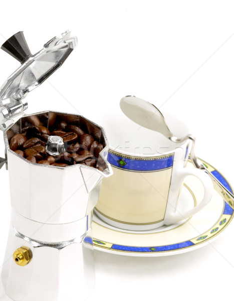 mocha coffee machine and cup Stock photo © keko64