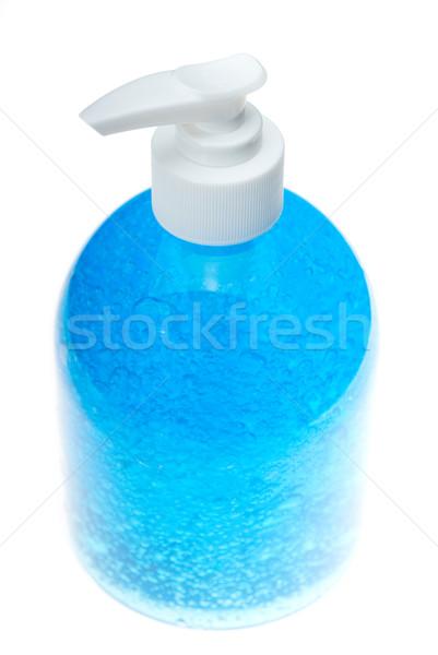 Mavi saç jel şişe beyaz moda Stok fotoğraf © keko64