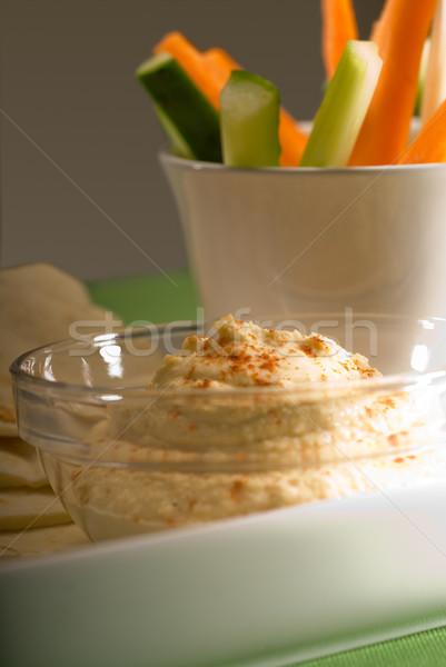 Pita brood plantaardige glas Stockfoto © keko64