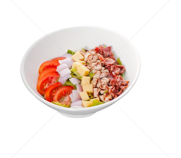 新鮮な シーザーサラダ 孤立した 白 ストックフォト © keko64