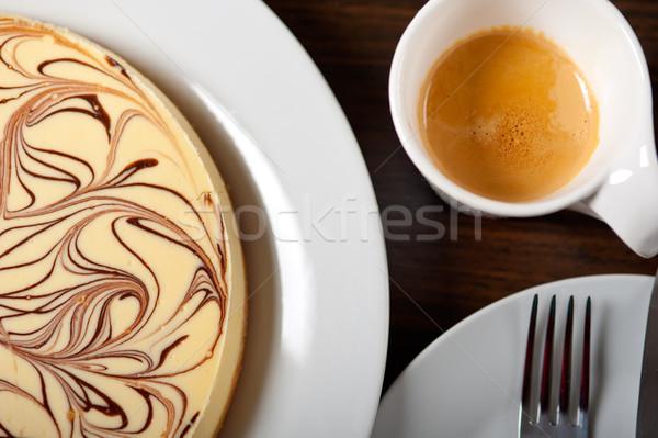 Cheese cake and espresso coffee Stock photo © keko64