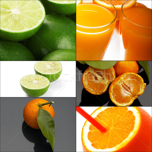 Stock photo: citrus fruits collage