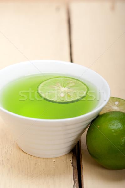 Zöld citrus limonádé friss egészséges makró Stock fotó © keko64