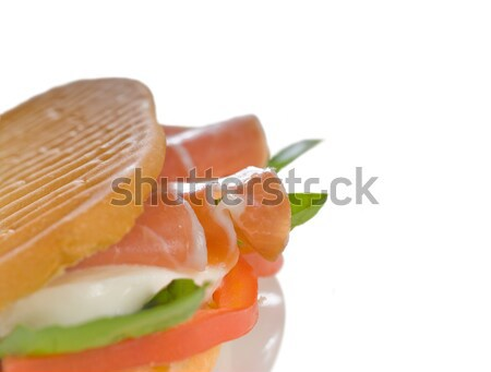 panini caprese and parma ham Stock photo © keko64