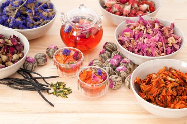 Natuurlijke thee infusie drogen Stockfoto © keko64