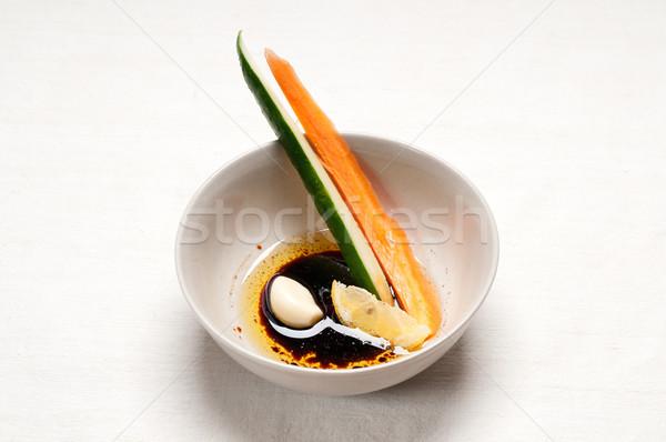 Stockfoto: Vers · snack · voorgerechten · ruw · wortel · komkommer