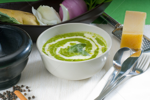 spinach soup Stock photo © keko64