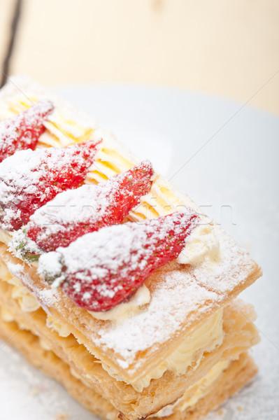 napoleon strawberry cake dessert  Stock photo © keko64
