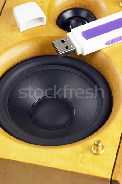 loudspeaker and usb key Stock photo © keko64