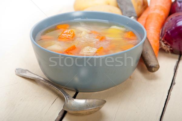 Traditional Italian minestrone soup  Stock photo © keko64