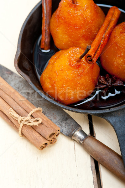 poached pears delicious home made recipe  Stock photo © keko64