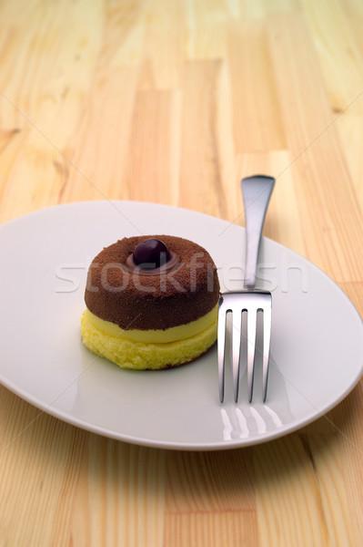 ストックフォト: チョコレート · 桜 · ケーキ · 新鮮な