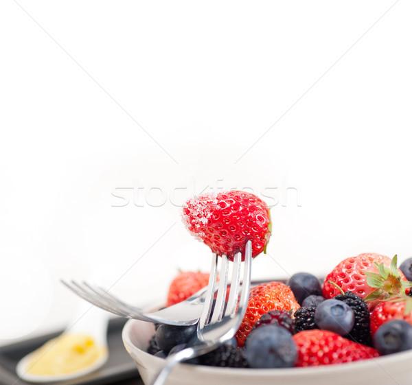 custard pastry cream and berries Stock photo © keko64