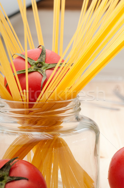 Vers tomaat spaghetti pasta ruw pine Stockfoto © keko64