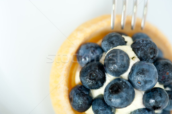blueberry cream cupcake Stock photo © keko64