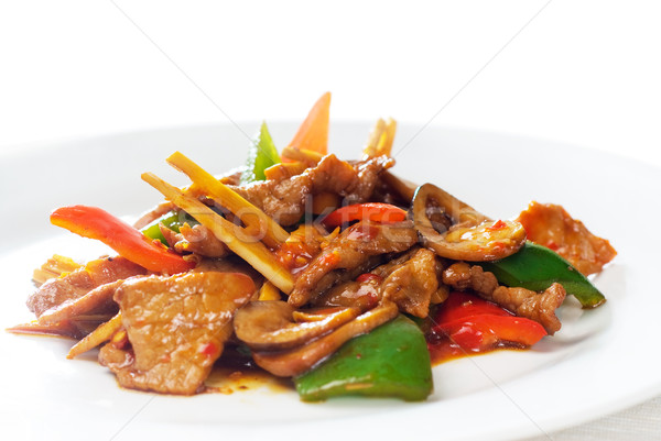 Chinese beef and vegetables Stock photo © keko64