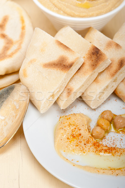 Pita brood traditioneel paprika top voedsel Stockfoto © keko64