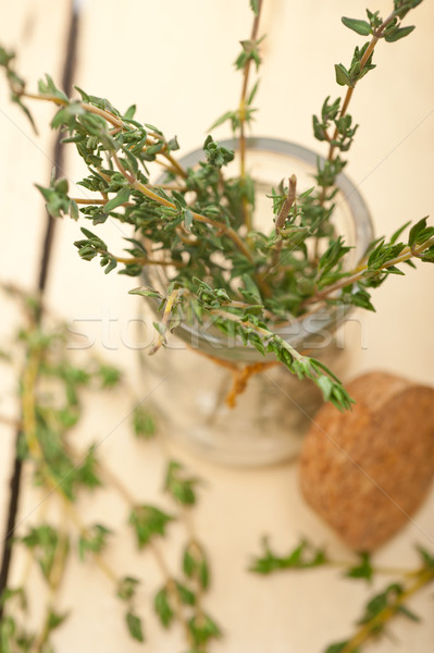fresh thyme on a glass jar Stock photo © keko64