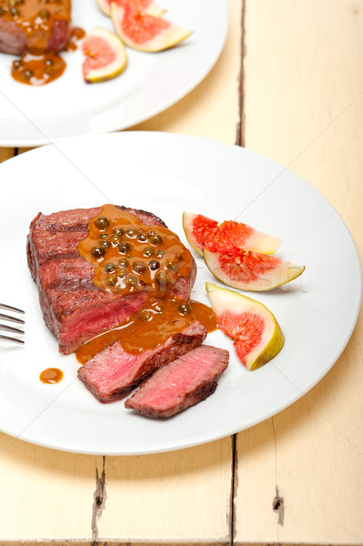 green peppercorn beef filet mignon Stock photo © keko64