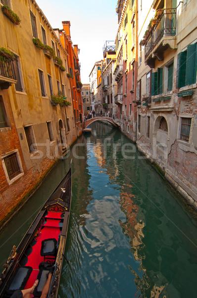 Venedik İtalya kanal ünlü tekne su Stok fotoğraf © keko64
