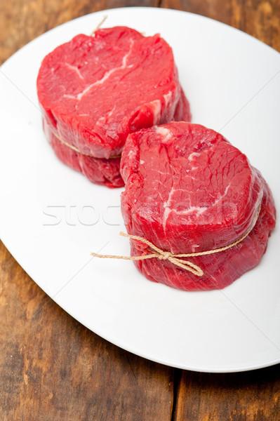 raw beef filet mignon Stock photo © keko64