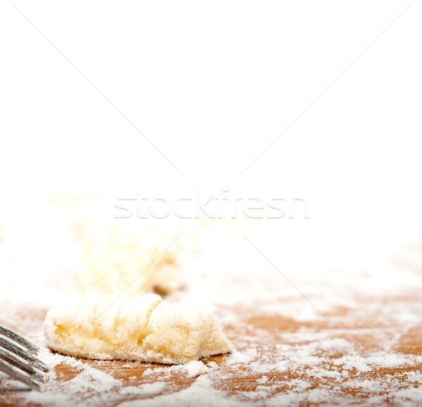 Stok fotoğraf: Taze · İtalyan · patates · ahşap · rustik